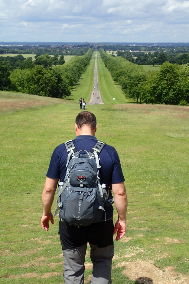 Setting off on the 'Long Walk', a three mile path leading to Windsor Castle
