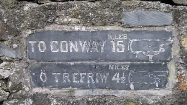 Slate sign at Betws y Coed