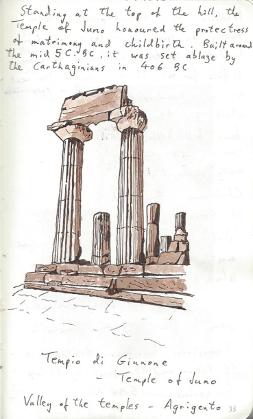 Pen and Ink- Temple of Juno