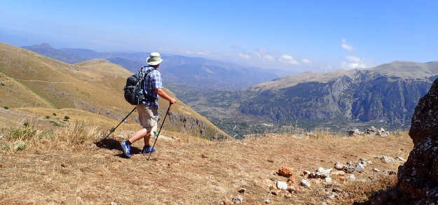 Three Points of the Compass walking in the Madonie Mountains, Sicily,