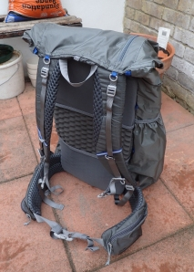 Gossamer Gear Mariposa with fitted SitLight pad