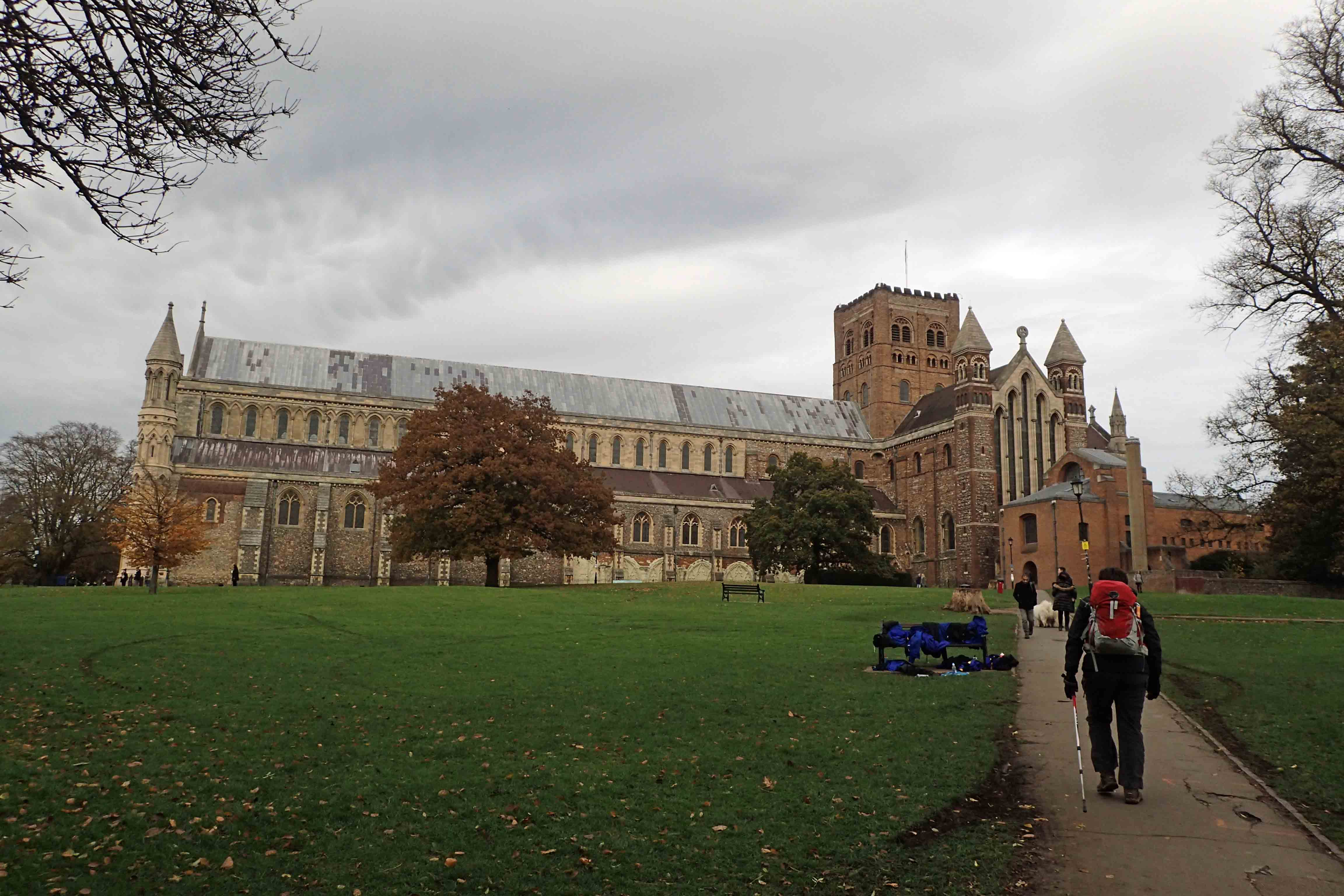 Taking time off to explore The Cathedral and Abbey Church of St. Alban- the site of the execution of England's first Christian martyr in 209