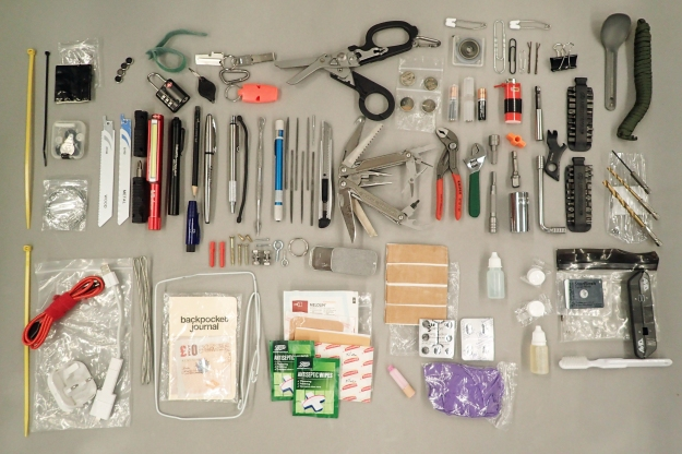 The contents of my EDC kit. It is pretty much stuffed to the gills