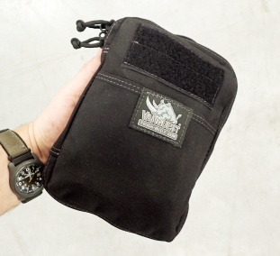 The Vanquest EDC SLim Maximizer pouch that Three Points of the Compass carries on every work day and trips away from the house by car