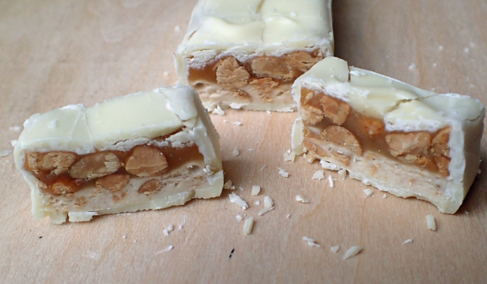 Snickers White is a very similar beast to a normal Snickers with just a change of chocolate