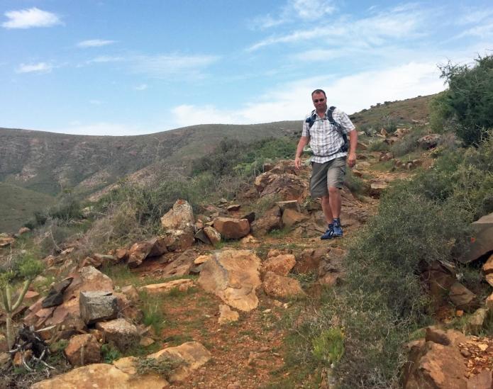 Three Points of the Compass descending from Morro Jorjado via the Cuesta de la Villa, Fuerteventura , March 2017