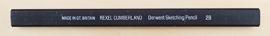 Made by the Derwent Cumberland Pencil Company, the British made Derwent Sketching Pencil in 2B is quite a rare beast