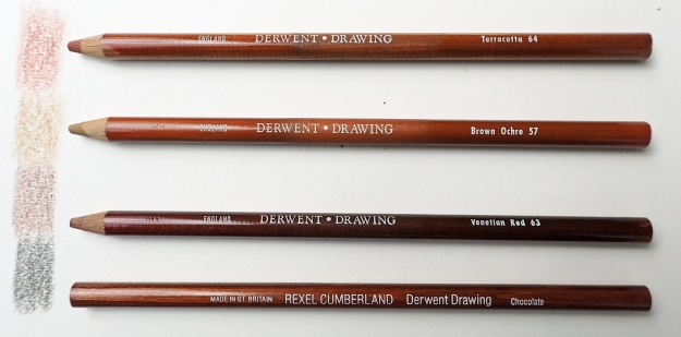Derwent coloured drawing pencils