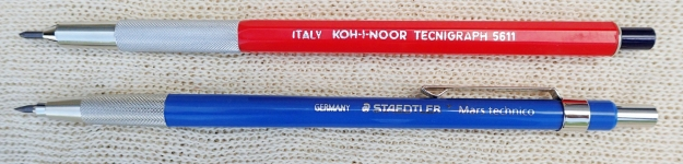 The Koh-I-Noor Tecnigraph 5611 and Staedtler Mars Technico have a number of similarities