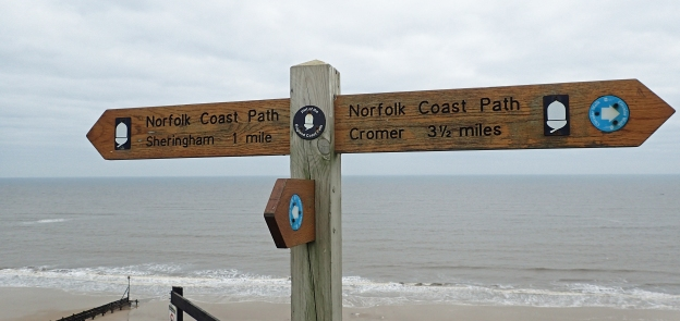 Norfolk Coast Path and English Coast Path sign