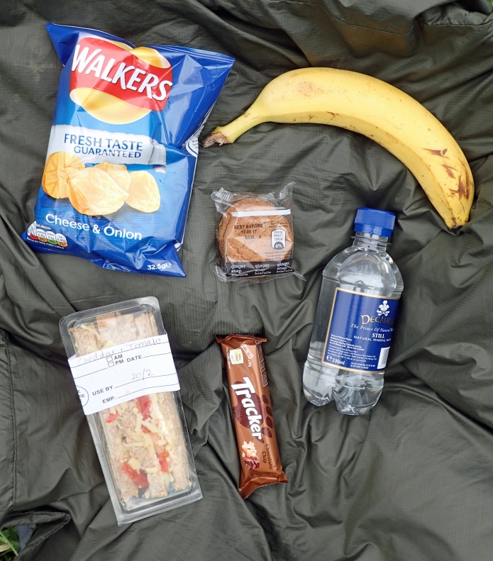 Packed lunch prepared at Hartington Hall YHA, Peak District