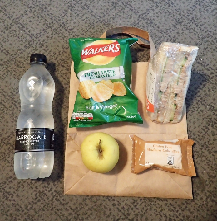 The packed lunch proved at Sherringham YHA in April 2017 is as uninspired as ever