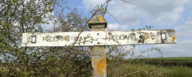 Few of the older signs for the Peddars Way and Norfolk Coast Path remain
