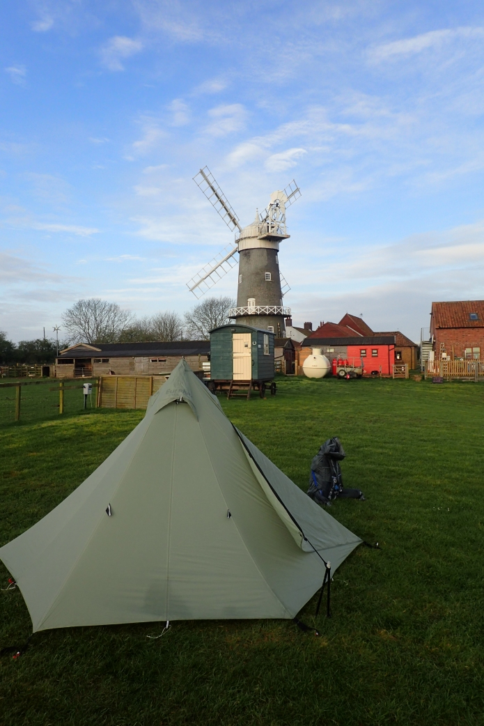 The first time I have ever camped in the shadow of a windmill. Campers get free entry to look around Bircham Windmill, but sadly, I arrived after it had shut and left before it opened