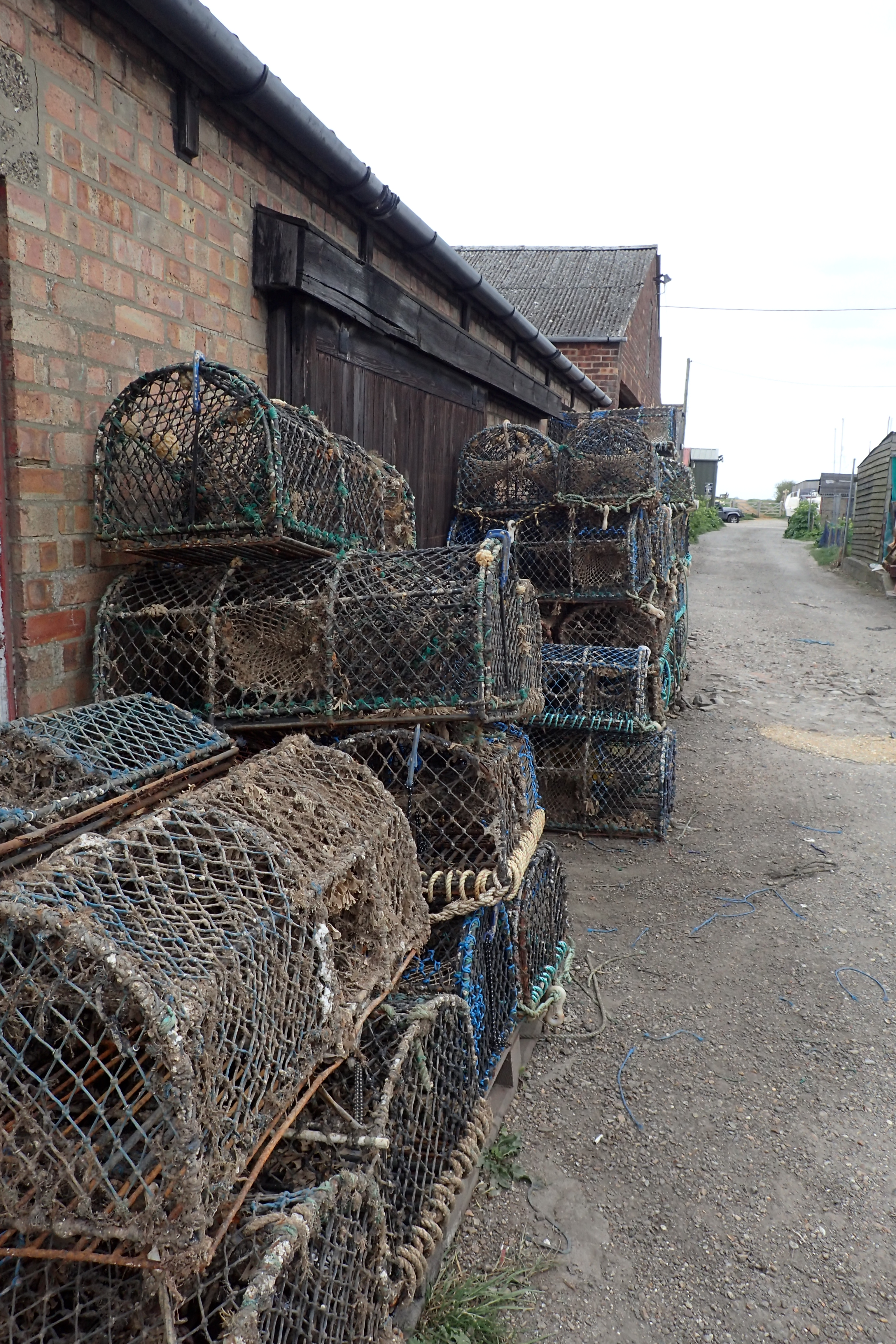 Lobster and Crab pots are set all the way along this part of the coast