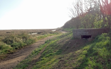 This part of the coast was thought to be at risk of attack and invasion during World War II. Surviving coastal defence installations survive to this day
