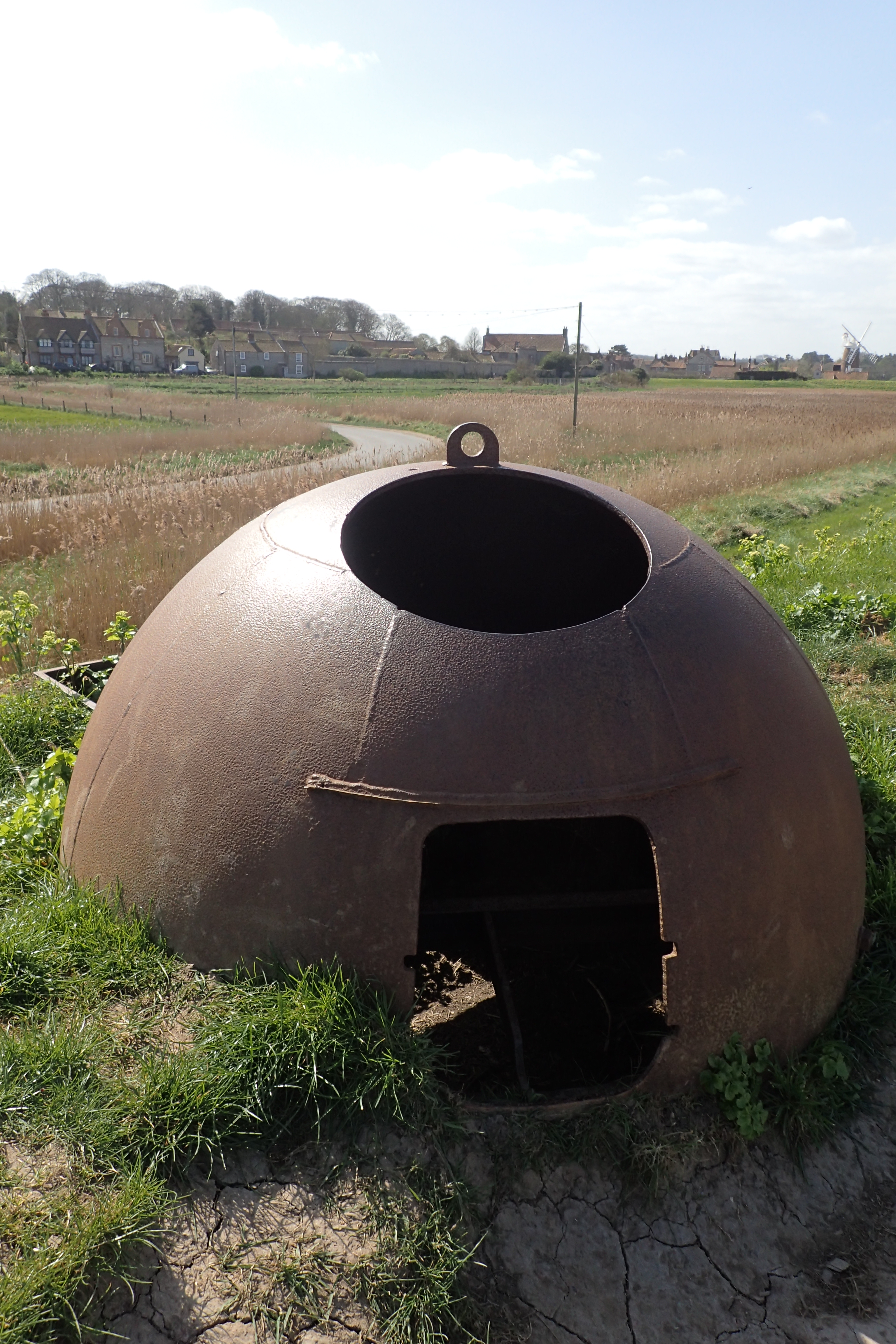 Remains of an Allan Williams gun turret. 199 of these were made during World War II