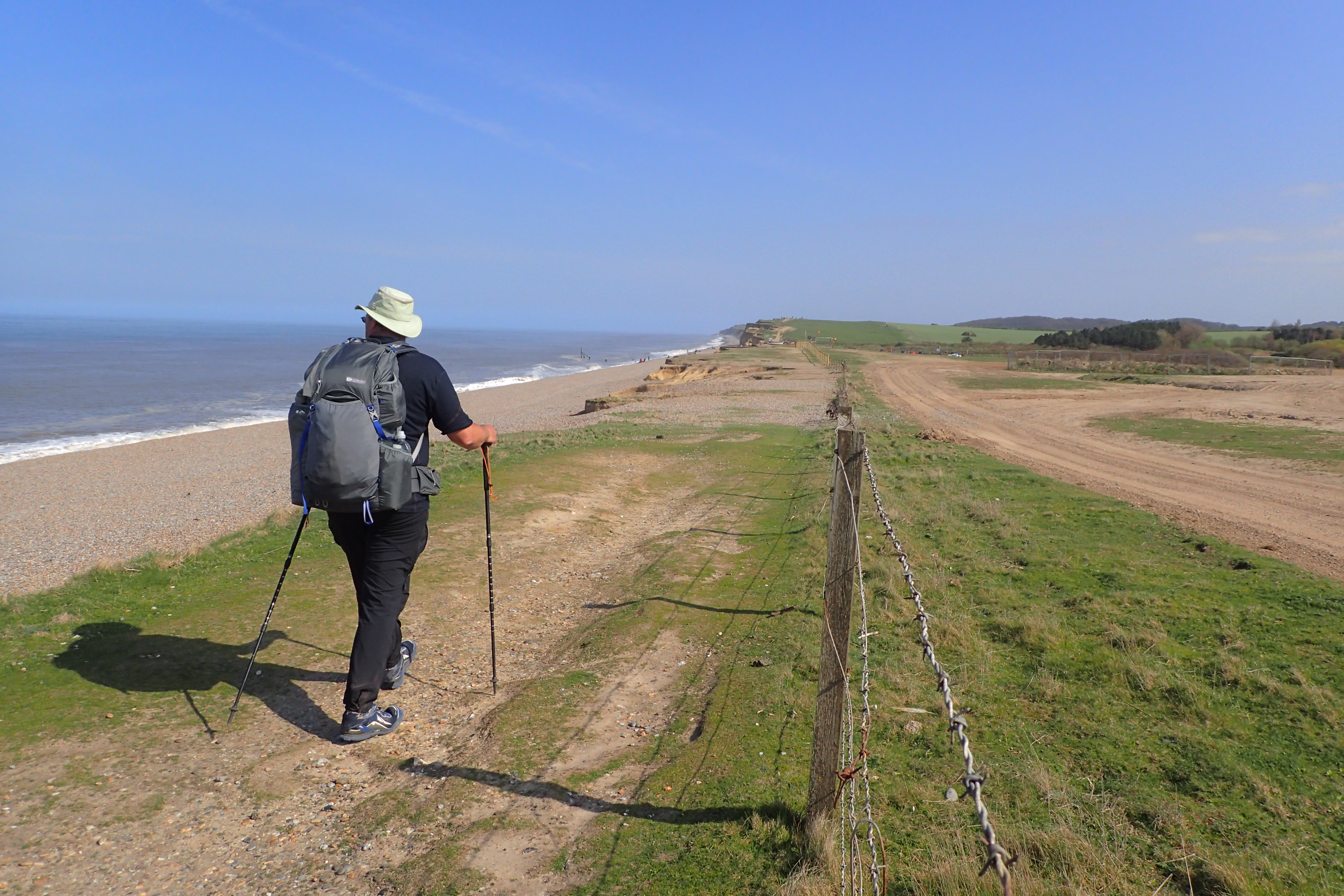 Beyond Weybourne Hope the path begins to climb as cliffs take over. This penultimate day saw me completing my biggest climb of the whole trail- the highest point was still only 346 feet (105 metres) above sea level. Norfolk really is a pretty flat county