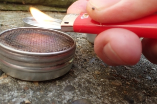 The 'soft' flame from a traditional gas lighter can drift around a little in a breeze
