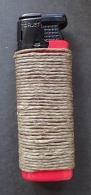 Torjet lighter, wrapped with Hemp Wick. Total weight- 24g