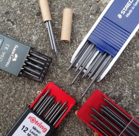 Replacement 2B leads from Kita-Boshi, Staedtler, Kol-I-Noor, Rotring and Faber Castell