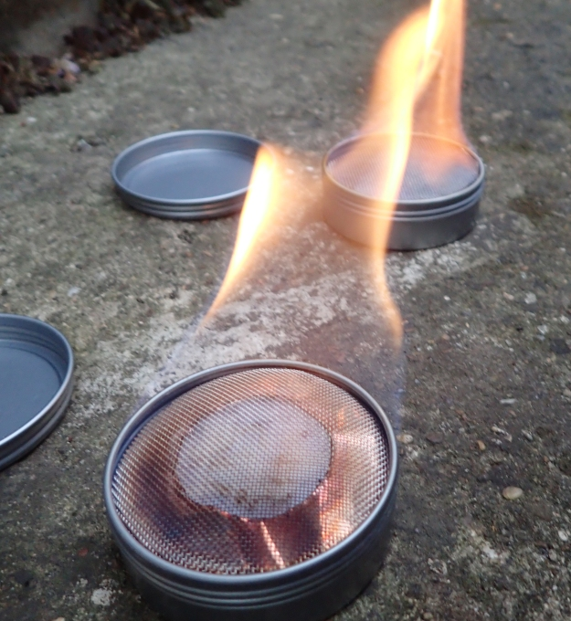 Burn times between my Mk II and Mk III home made stoves were compared
