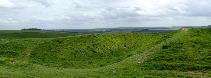 Passing through Barbury Castle, an Iron Age Hillfort, on the Ridgeway