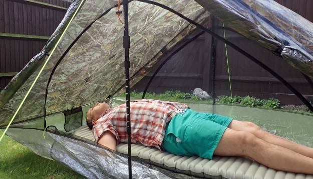 Three Points of the Compass is a big chap and six feet tall (or long). There is plenty of room at both foot and head when lying on a full length Thermarest X-Therm