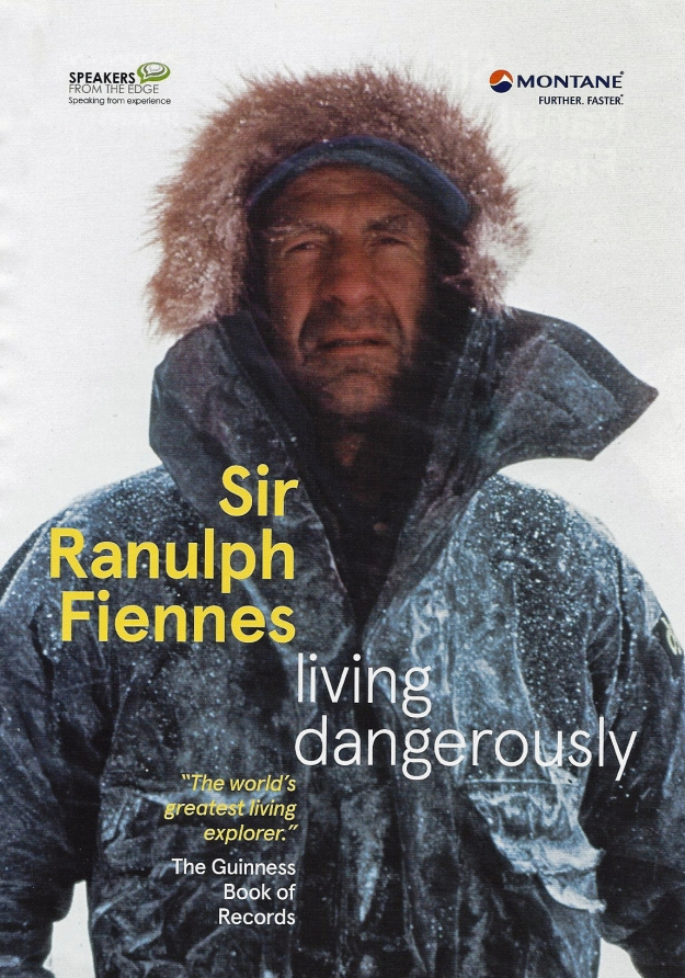 Ranulph Fiennes often embarks on speaking tours and Three Points of the Compass was thrilled to sit amongst a captivated audience to hear, just a few, of his exploits. Fiennes also used this platform to passionately defend the reputation of Captain Robert Falcon Scott