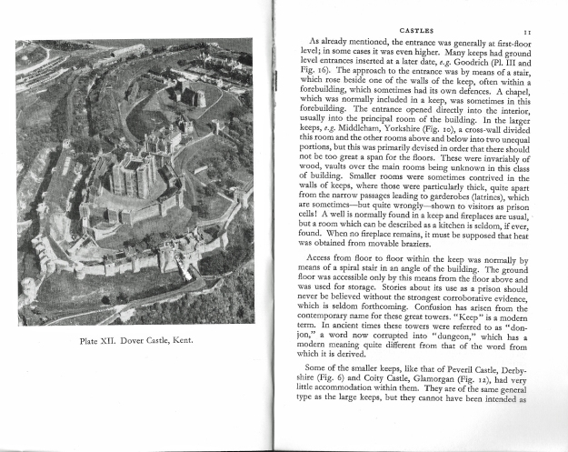 My tiny little 66 page book from HMSO is a good, if old, introduction to the salient points of castles