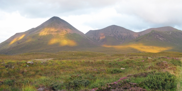 Three Points of the Compass visited Skye in 2012. The Red Hills beckon