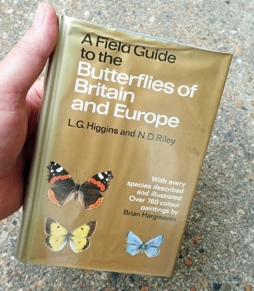 My first Field Guide to Butterflies was by L.G. H iggins and N.D. Riley. Good as it is, with illustrations by Brian Hargeaves, I reckon the most recent Collins guide is a big improvement