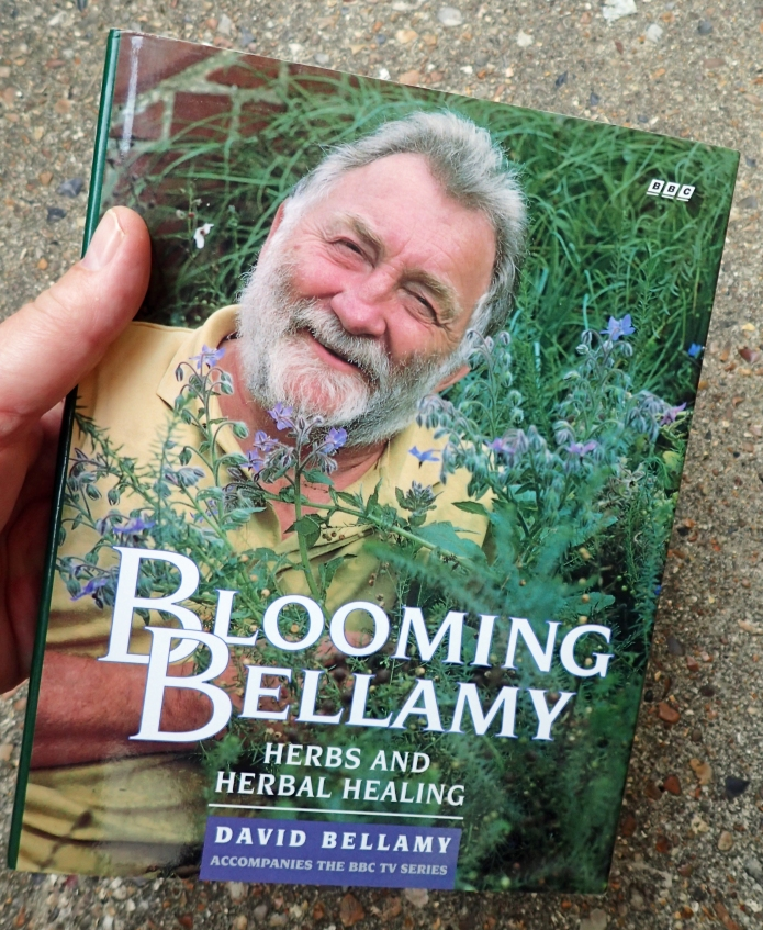 Potentially of more practical use than an old herbal, is Blooming Bellamy, the book that accompanied David Bellamy's BBC series, first broadcast in 1993. It is still worth watching if only for the howlingly funny view of an 'aging botanish' crawling arounf the feet of commuters on a railway station platform, while extolling the virtues of the plants to be found there