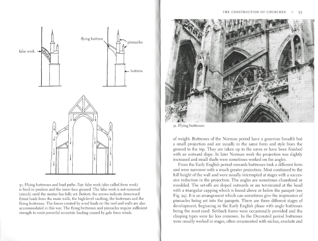 Two pages from Geoffrey R. Sharpe's Historic English Churches. The author had forty yeras expericne in managing and caring for historic buildings leading up to the publication of this excellent book