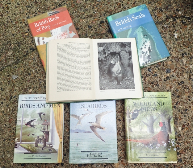 New Naturalists have been published since 1945 covering a wide range of British Natural History subjects. There have been cheaper editions published of many of these, eschewing the lovely dust jackets artwork and replacing any original colour plates with black and white