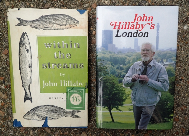 Two further volumes from John Hillaby, neither of which enjoyed large sales yet make good reading. within the streams was the author's first published volume and is the story of a fisherman, people of the river and a byegone age. John Hillaby's London was his publishers suggeston, that stymied the author's ambitious wishes to return to far off lands or explore new ones, but instead gave us an excellently researched and personal guide to a London experienced by few