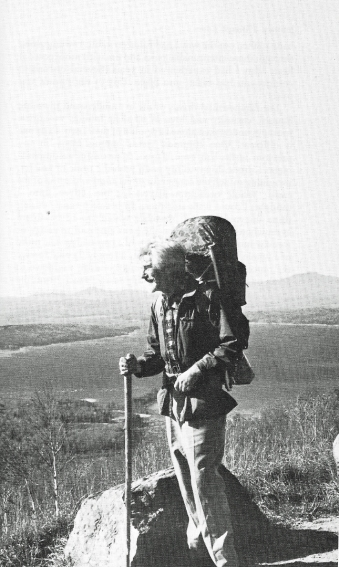 In the early 1970s, mourning the loss of his second wife, Thelma ('Tilly'), John Hillaby walked the northern section of the Appalachian Trail. Here, he is shown on his final day on the trail. This walk was recounted in his book Journey through Love