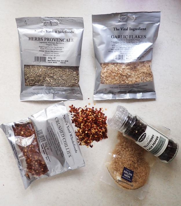 A small selection of spices and condiments that will add flavour to meals on the trail