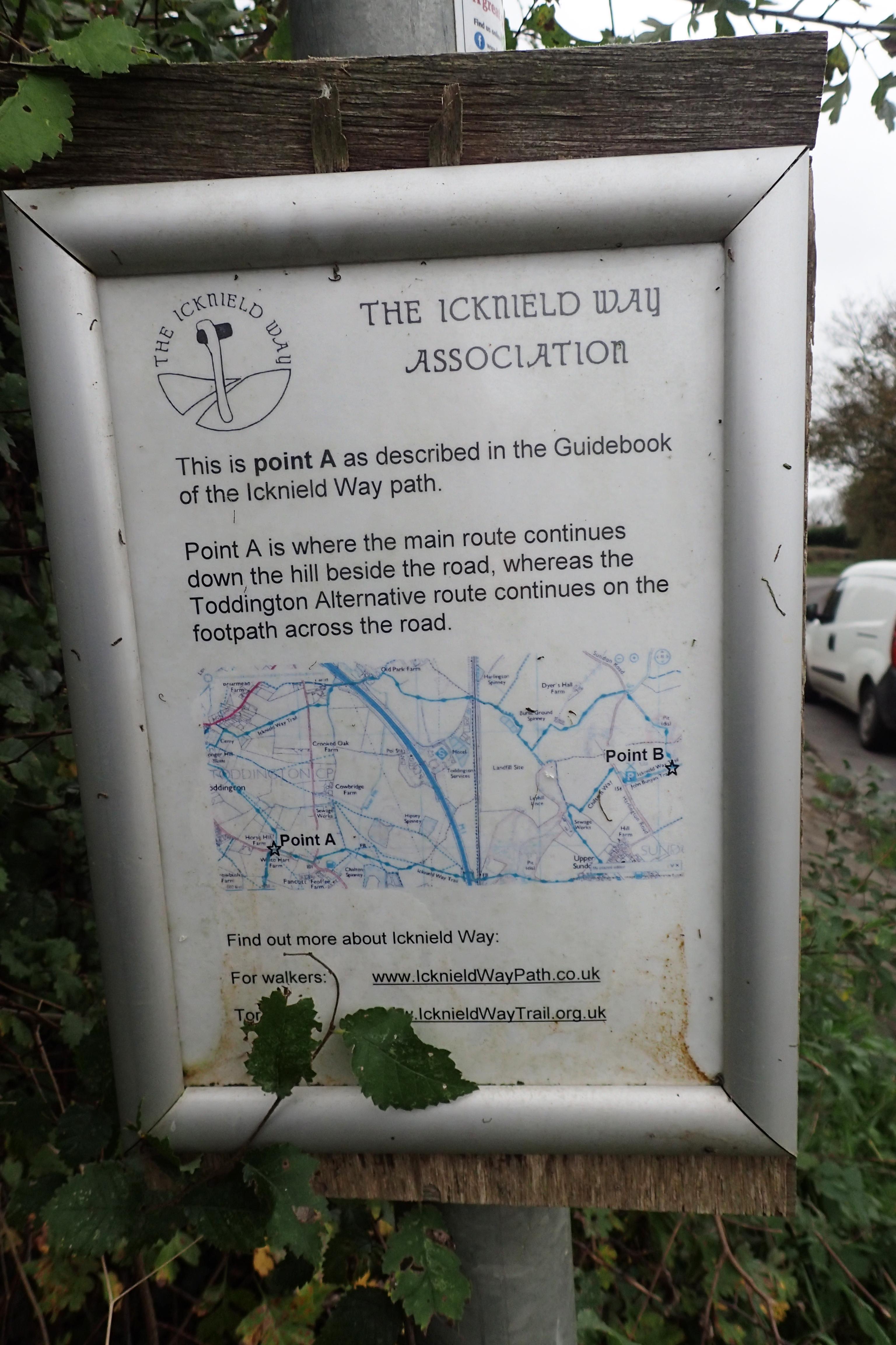 An alternative route passes through Toddington