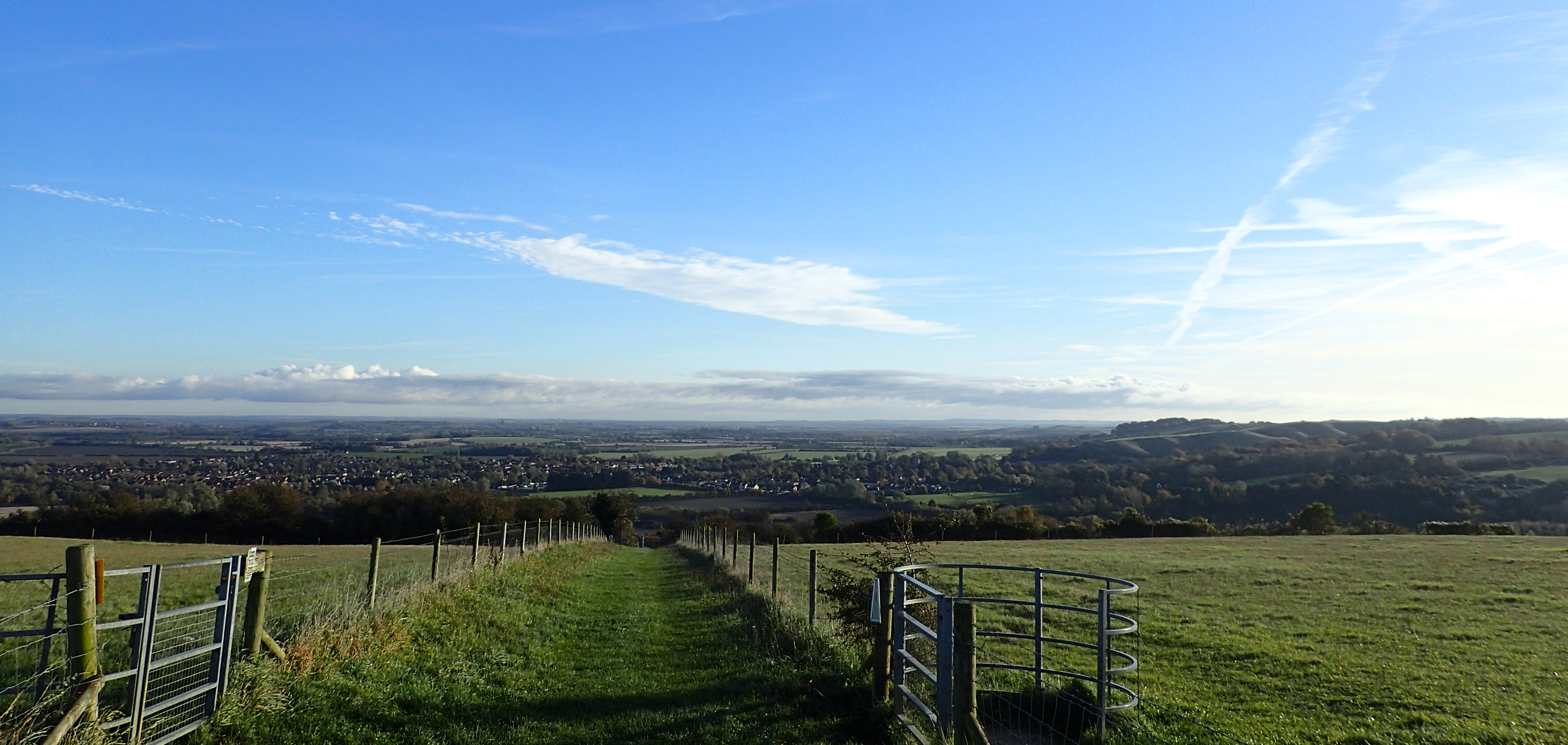 View from Sundon Hills Country Park, one of the highest points in Bedfordshire
