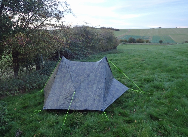 Wildcamp on Day Two on the Icknield Way Trail. Long wet grass and little breeze meant that this was the worst night for condensation in my Z Packs Duplex