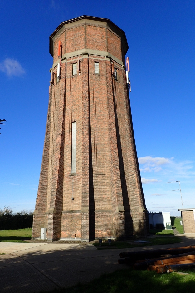 On Rivey Hill, Cambridgeshire, the Icknield Way skirts a substantial brick built, 12-sided, water tower. Constructed in 1935-6, this is now a Grade II listed structure. This Art Deco tower used to provide water for 5000 people in nearby Linton and neighbouring villages