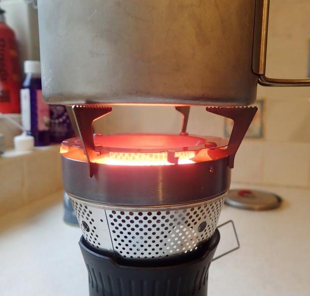 MSR Titan Kettle on the Jetboil pot stand
