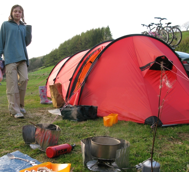 Three Points of the Compass and family car camping in Exmoor, 2009. One or both Primus Stoves were used on these trips