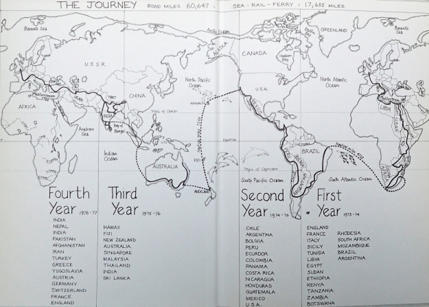 Ted Simon's four-year global journey, recorded in his book Jupiter's Travels