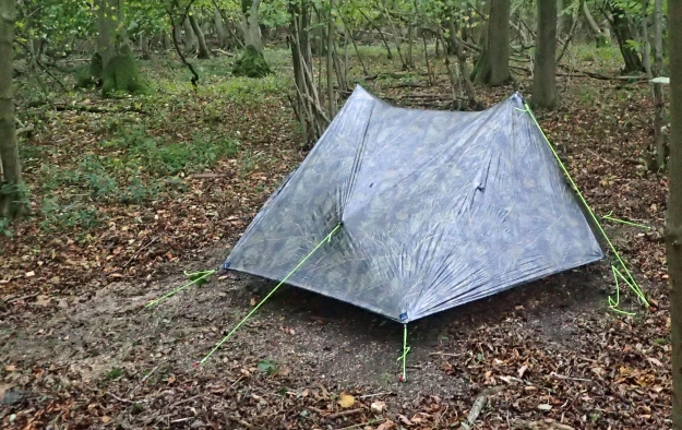 Wild Camp with Z Packs Duplex on the Icknield Way in 2017. This is the shelter Three Points of the Compass will use on his 2018 hike