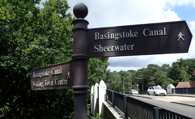 Part of the Basingstoke Canal was followed by Three Points of the Compass when he completed the London Countryway in 2016