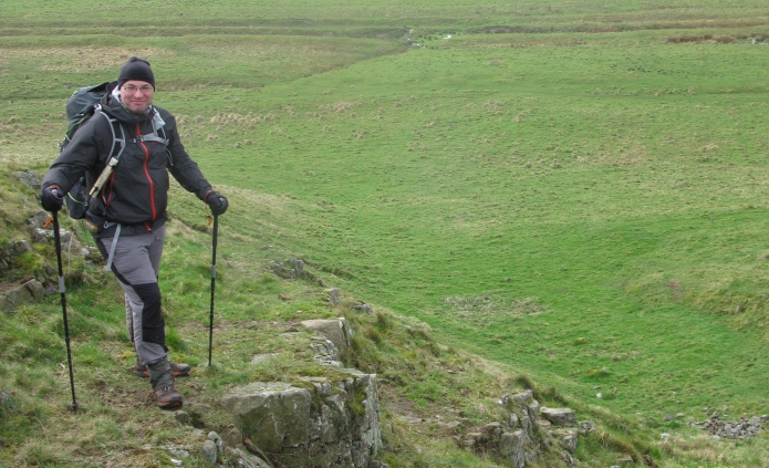 Three Points of the Compass wore Brooks Cascadia 8's when hiking Hadrian's Wall in 2014