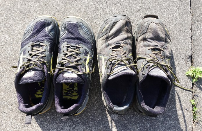 Resupply of new maps and some essential equipment was sent on as required by Mission Control. Here, my worn out Altra Lone Peak 3.5 were sent home to have the last few miles left inthem used up at some point in the future, while replacements stand ready for another five to seven hundred miles on this particular expedition