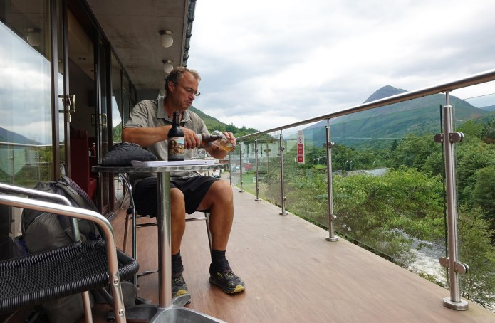 It can't all be hard work- a stop for important carbohydrates in Kinlochleven, West Highland Way. 27th July 2018
